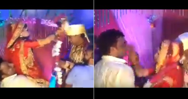 brave bride slap man for misbehave
