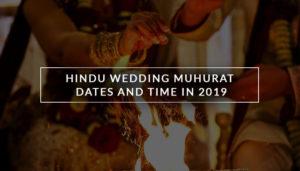 Hindu Marriage Dates In 2019