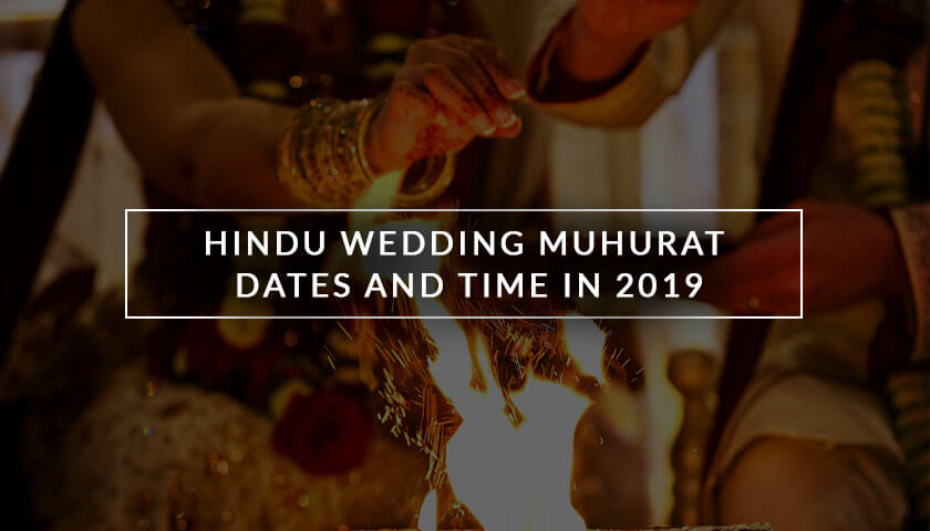 Hindu Marriage Dates In 2019