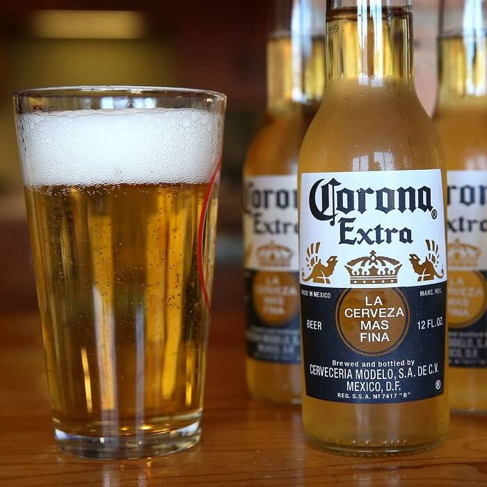 Corona beer brand in India