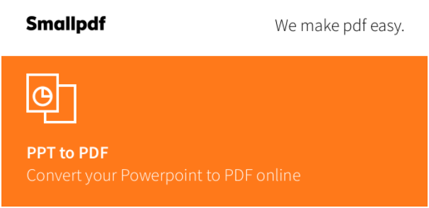 Convert Your PPT to PDF For Free!